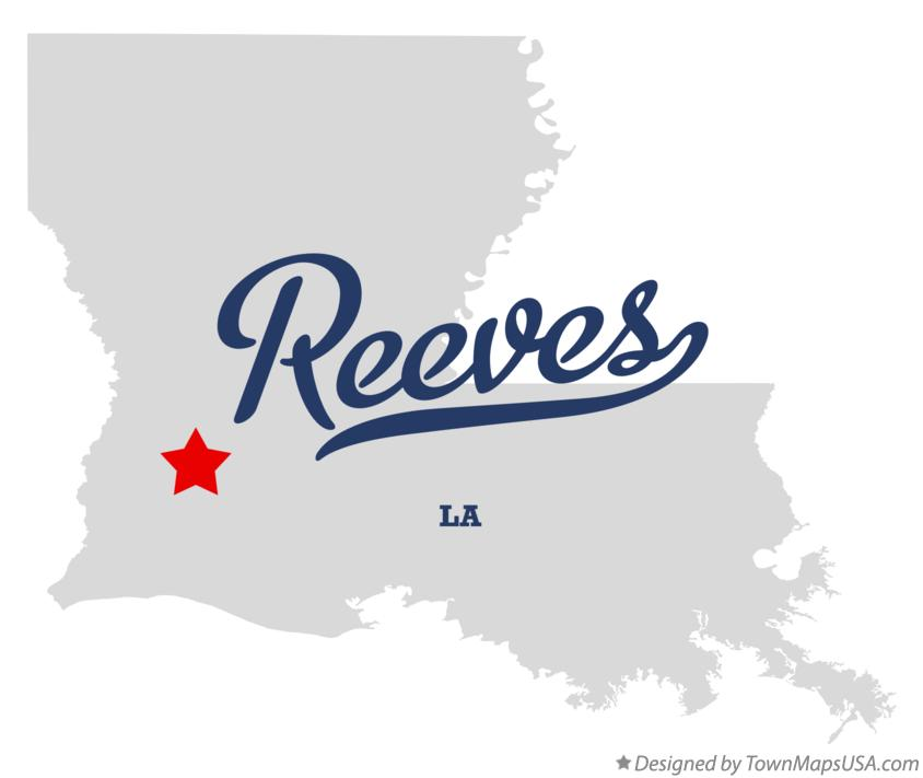 Map of Reeves Louisiana LA
