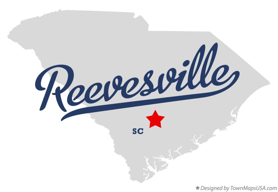 Map of Reevesville South Carolina SC