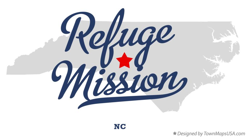 Map of Refuge Mission North Carolina NC