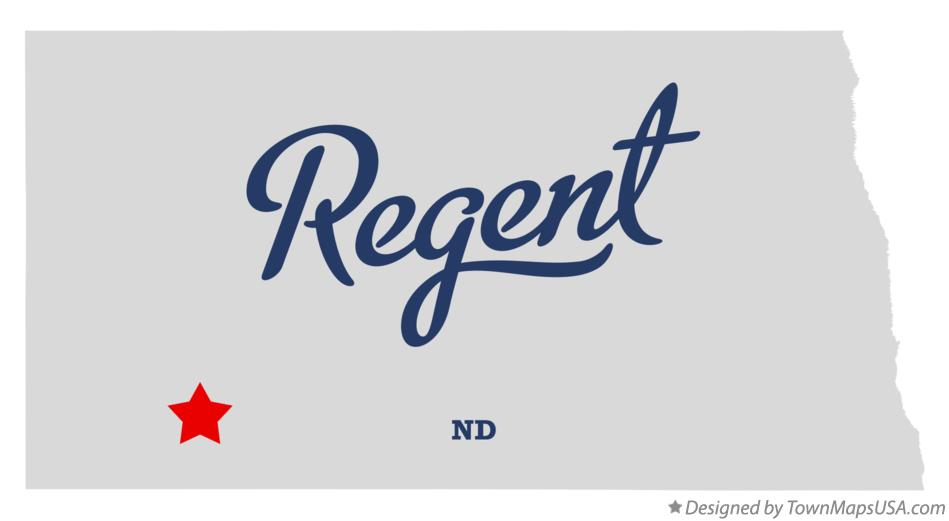 Map of Regent North Dakota ND