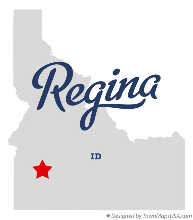 Map of Regina Idaho ID