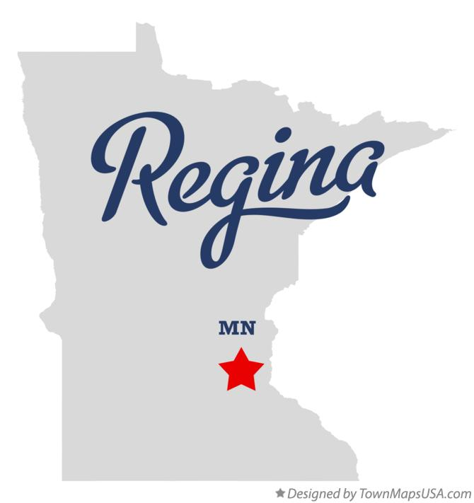 Map of Regina Minnesota MN