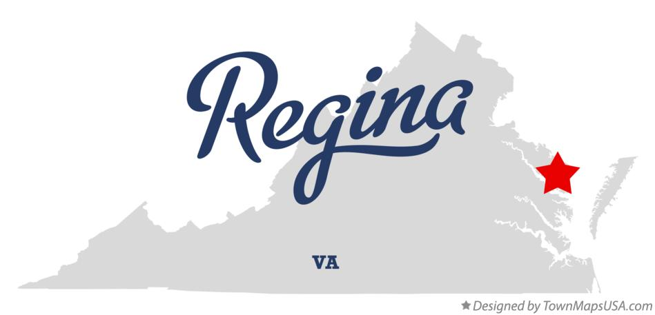 Map of Regina Virginia VA