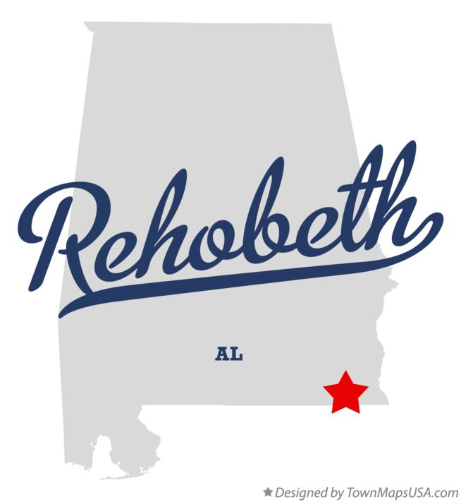 Map of Rehobeth Alabama AL