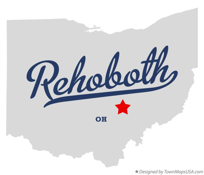 Map of Rehoboth Ohio OH