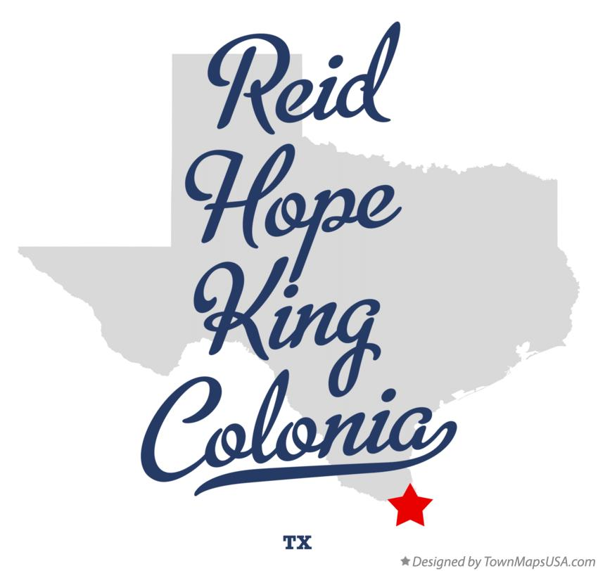 Map of Reid Hope King Colonia Texas TX