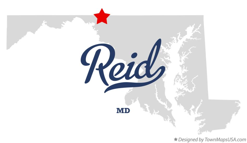 Map of Reid Maryland MD