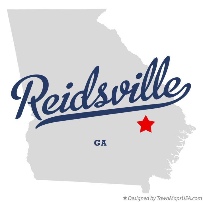 Map of Reidsville Georgia GA