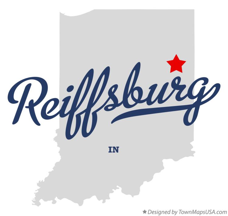 Map of Reiffsburg Indiana IN