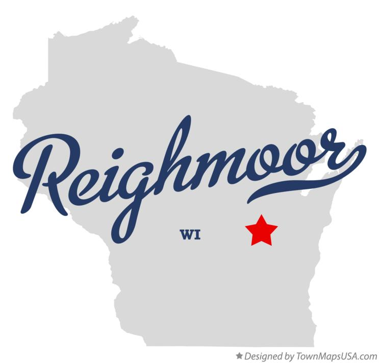 Map of Reighmoor Wisconsin WI