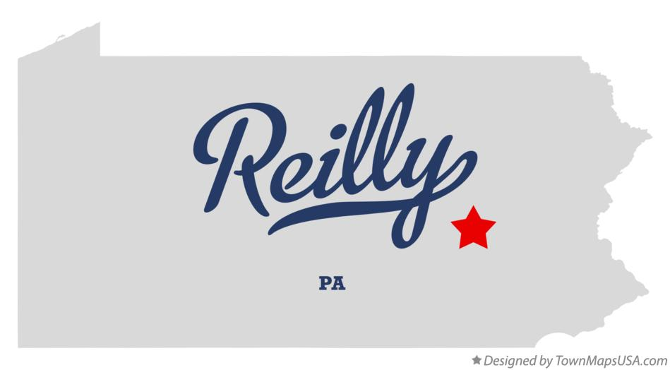 Map of Reilly Pennsylvania PA