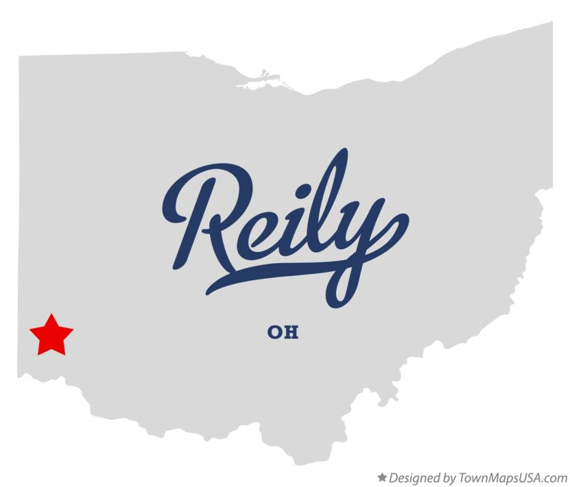 Map of Reily Ohio OH
