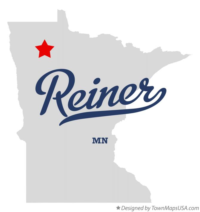 Map of Reiner Minnesota MN