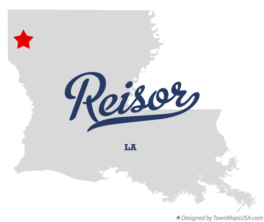 Map of Reisor Louisiana LA