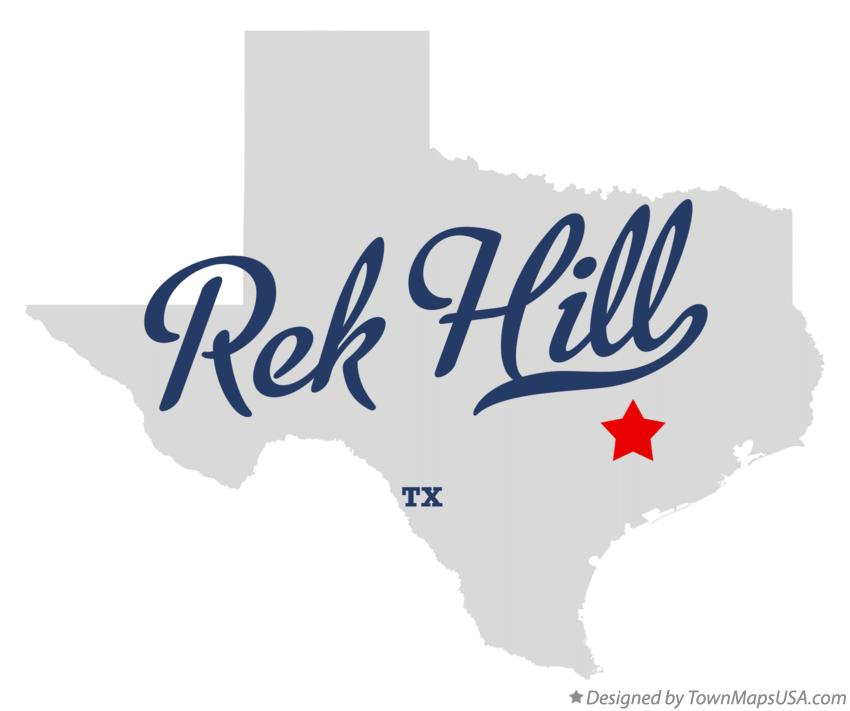 Map of Rek Hill Texas TX