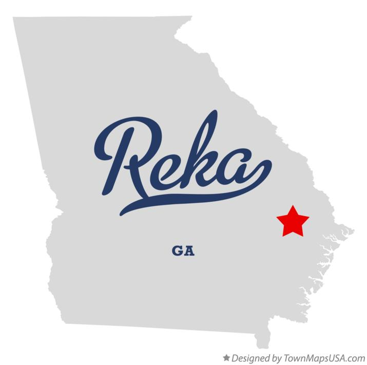 Map of Reka Georgia GA