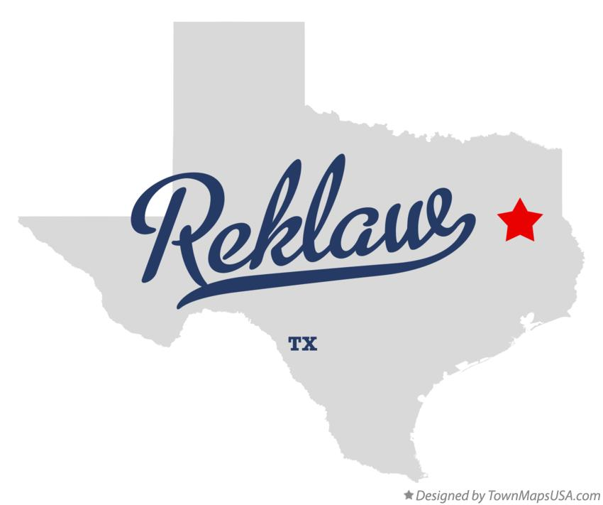 Map of Reklaw Texas TX