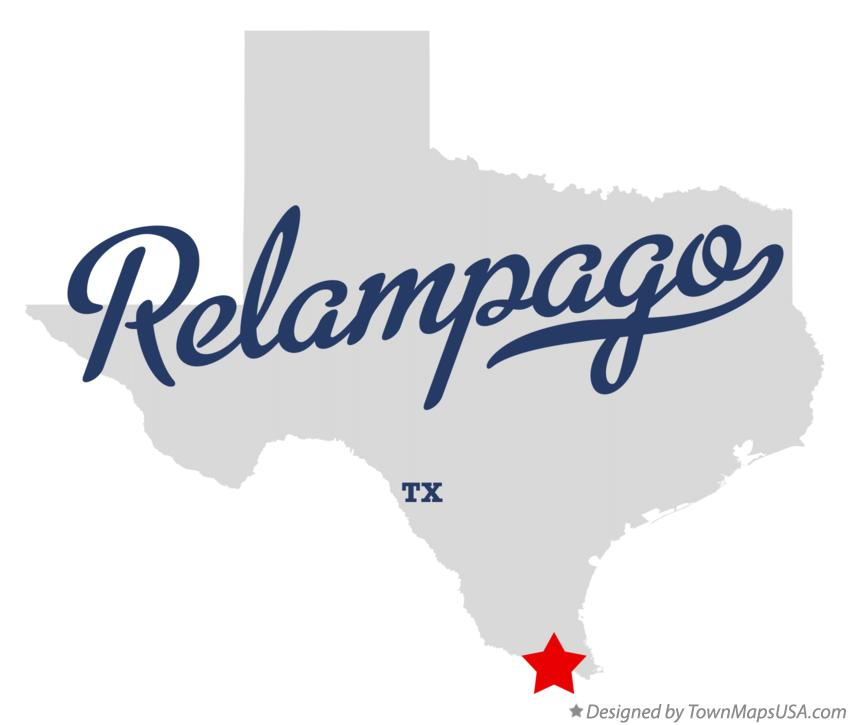Map of Relampago Texas TX