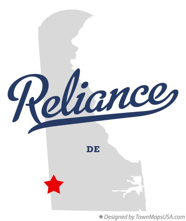 Map of Reliance Delaware DE
