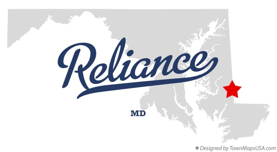 Map of Reliance Maryland MD