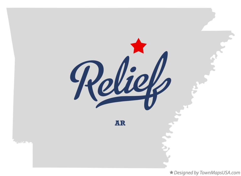 Map of Relief Arkansas AR
