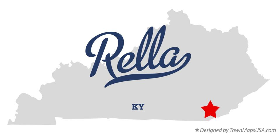 Map of Rella Kentucky KY
