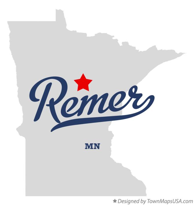 Map of Remer Minnesota MN