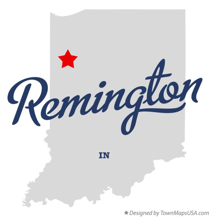 Map of Remington Indiana IN