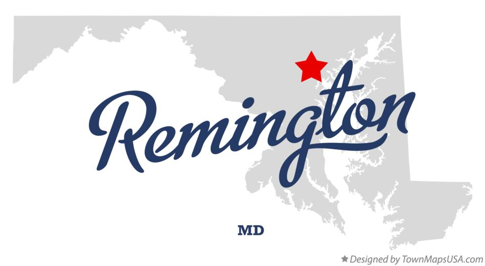Map of Remington Maryland MD