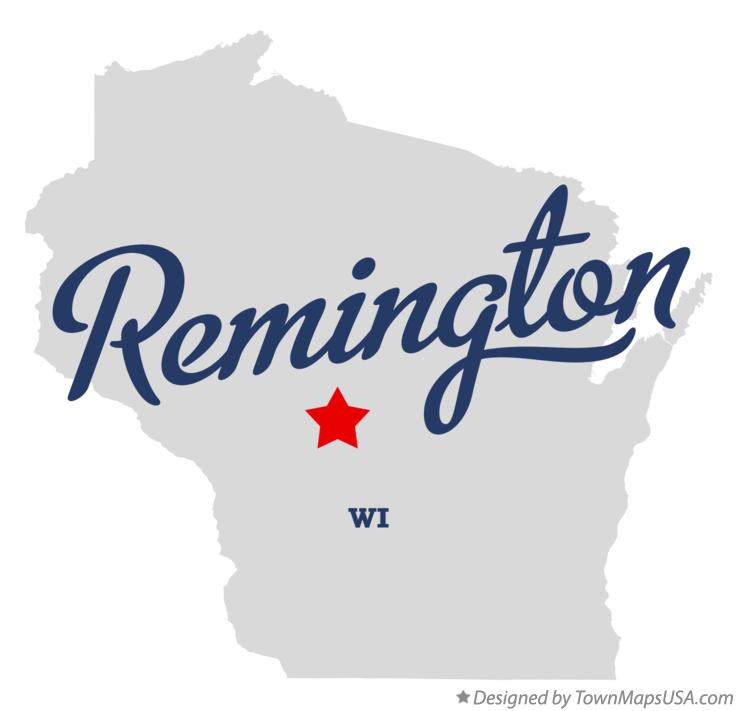 Map of Remington Wisconsin WI