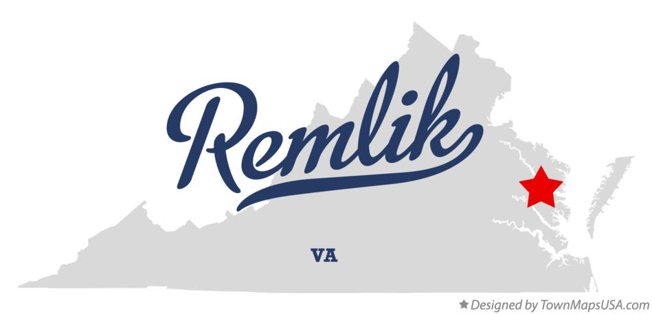 Map of Remlik Virginia VA