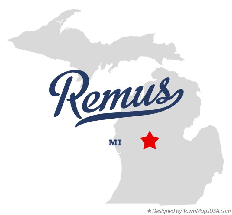 Map of Remus Michigan MI