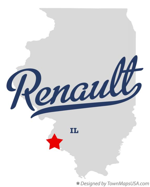 Map of Renault Illinois IL