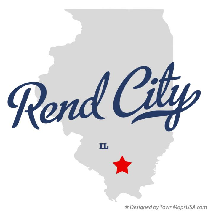 Map of Rend City Illinois IL