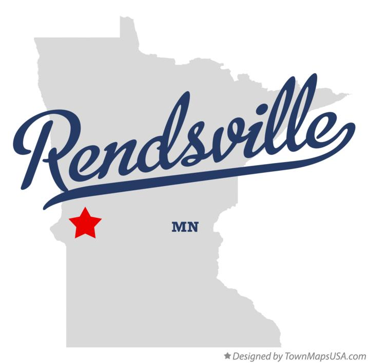 Map of Rendsville Minnesota MN