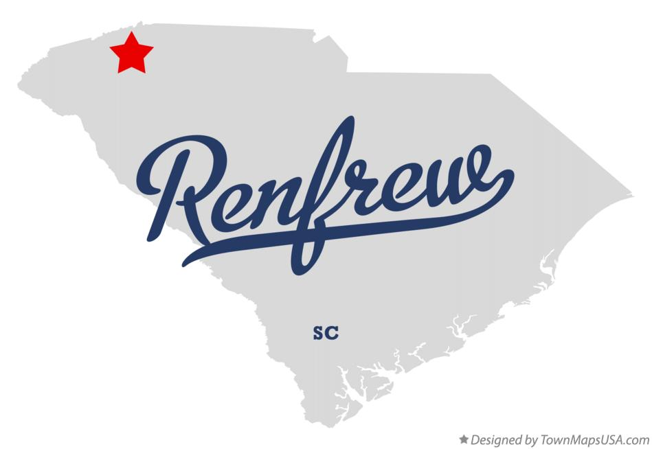 Map of Renfrew South Carolina SC