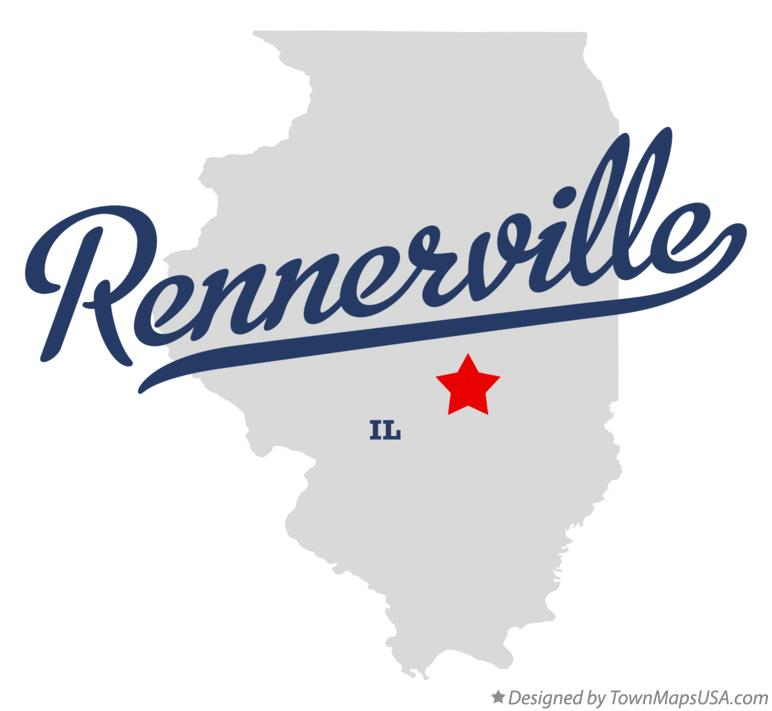 Map of Rennerville Illinois IL