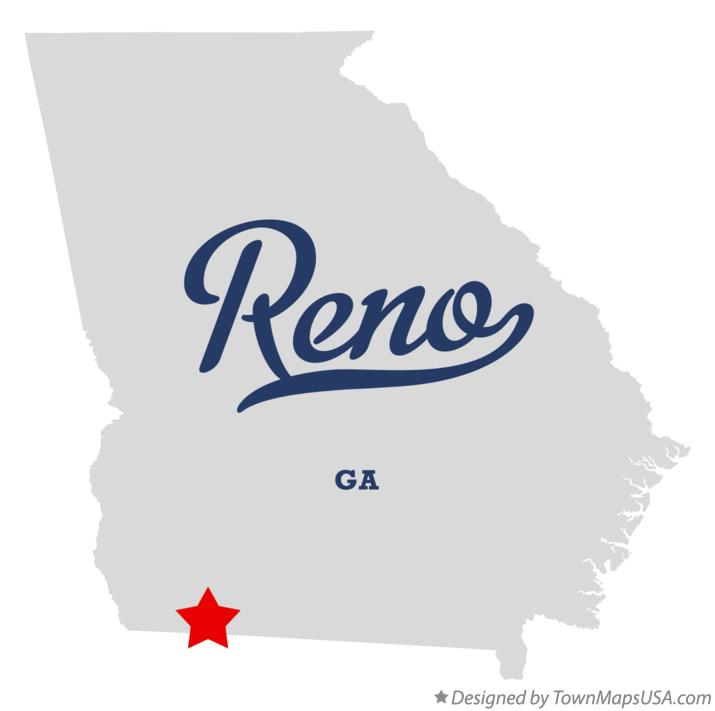 Map of Reno Georgia GA