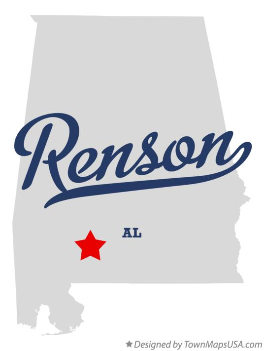 Map of Renson Alabama AL