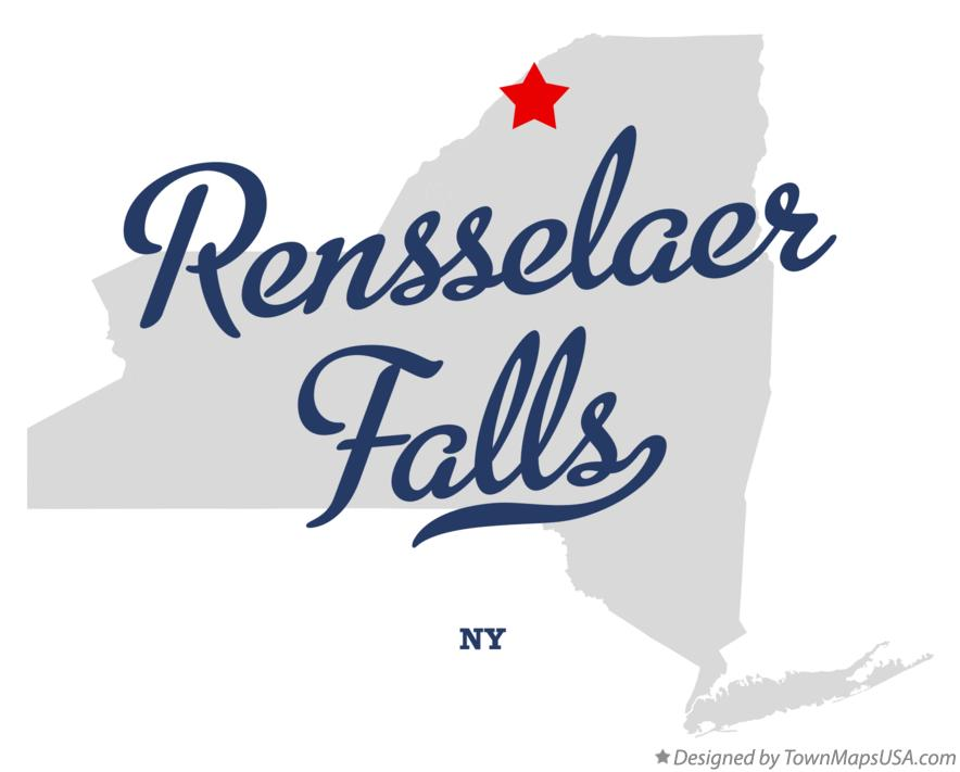 Map of Rensselaer Falls New York NY