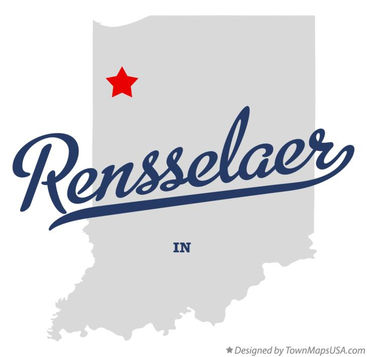 Map of Rensselaer Indiana IN