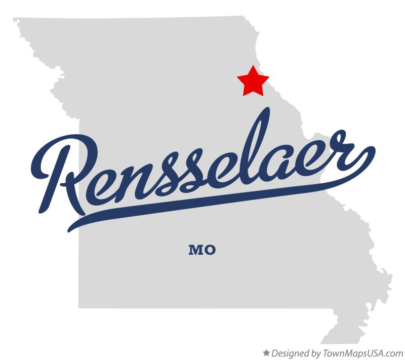 Map of Rensselaer Missouri MO