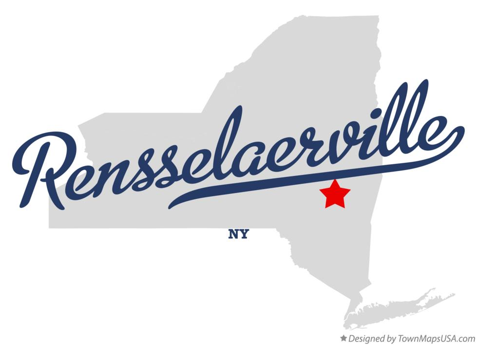 Map of Rensselaerville New York NY