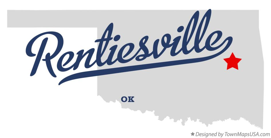 Map of Rentiesville Oklahoma OK