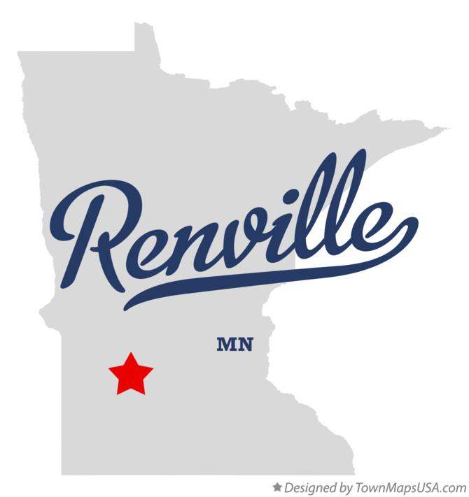 Map of Renville Minnesota MN