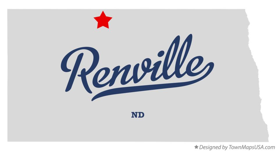 Map of Renville North Dakota ND