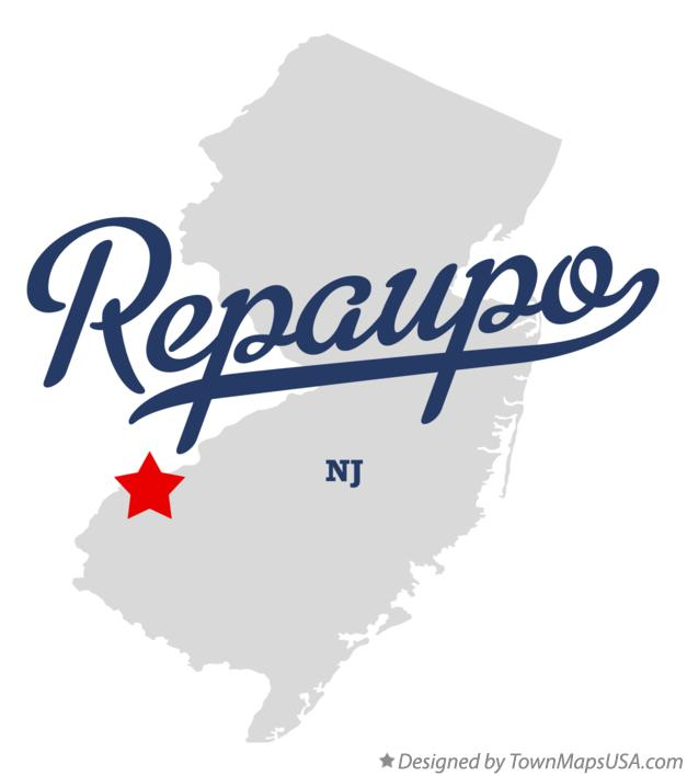 Map of Repaupo New Jersey NJ