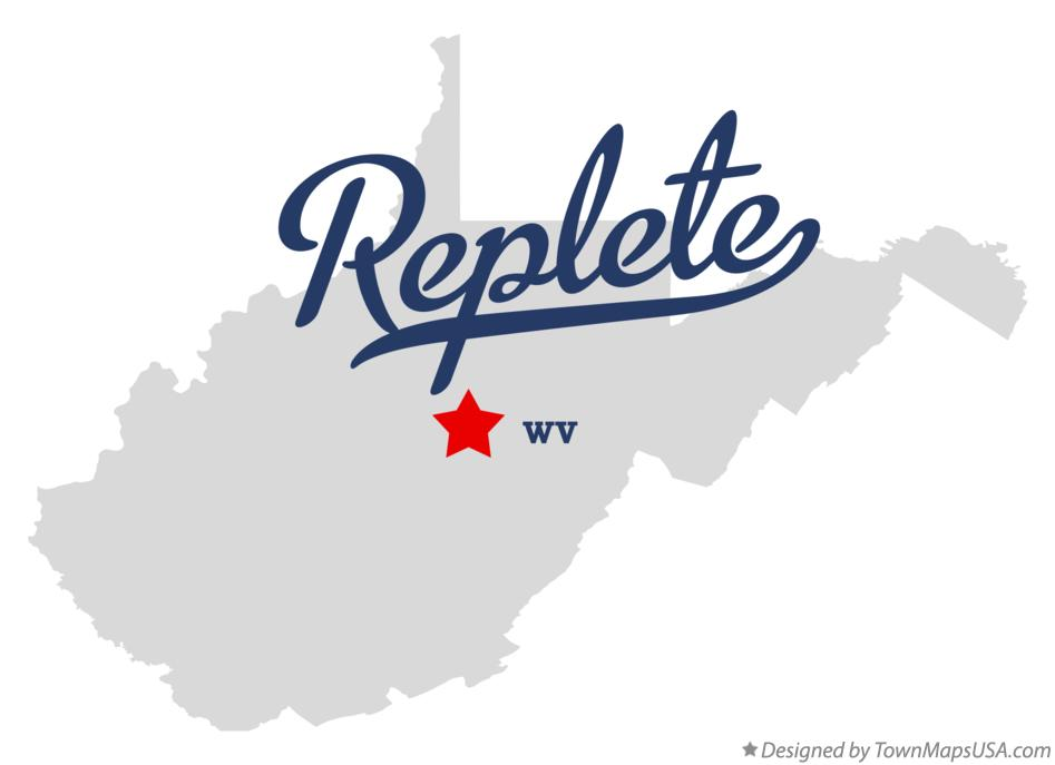 Map of Replete West Virginia WV