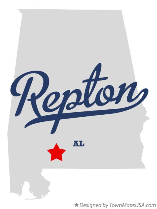 Map of Repton Alabama AL