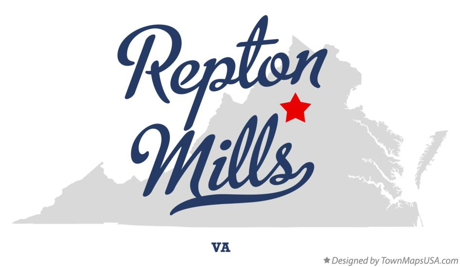 Map of Repton Mills Virginia VA